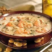 potato soup with shrimp