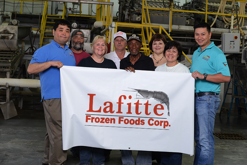A photo of the Lafitte Frozen Foods crew.