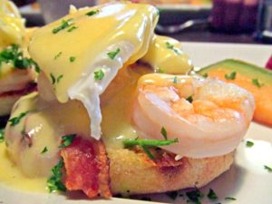 Why not treat your mother with Shrimp Benedict with Crab Meat and Salmon