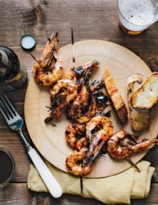 Wild American Shrimp - Grilled Head-on New Orleans-style BBQ Shrimp