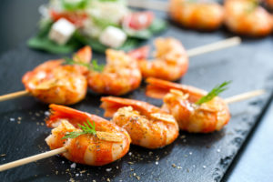 Wild American Shrimp Recipes - Grilled Wild Caught Gulf Shrimp in chimichurri marinade