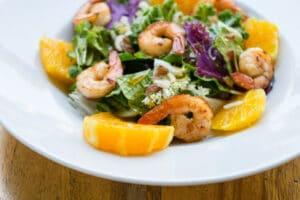 Summer Shrimp Salad with Oranges.