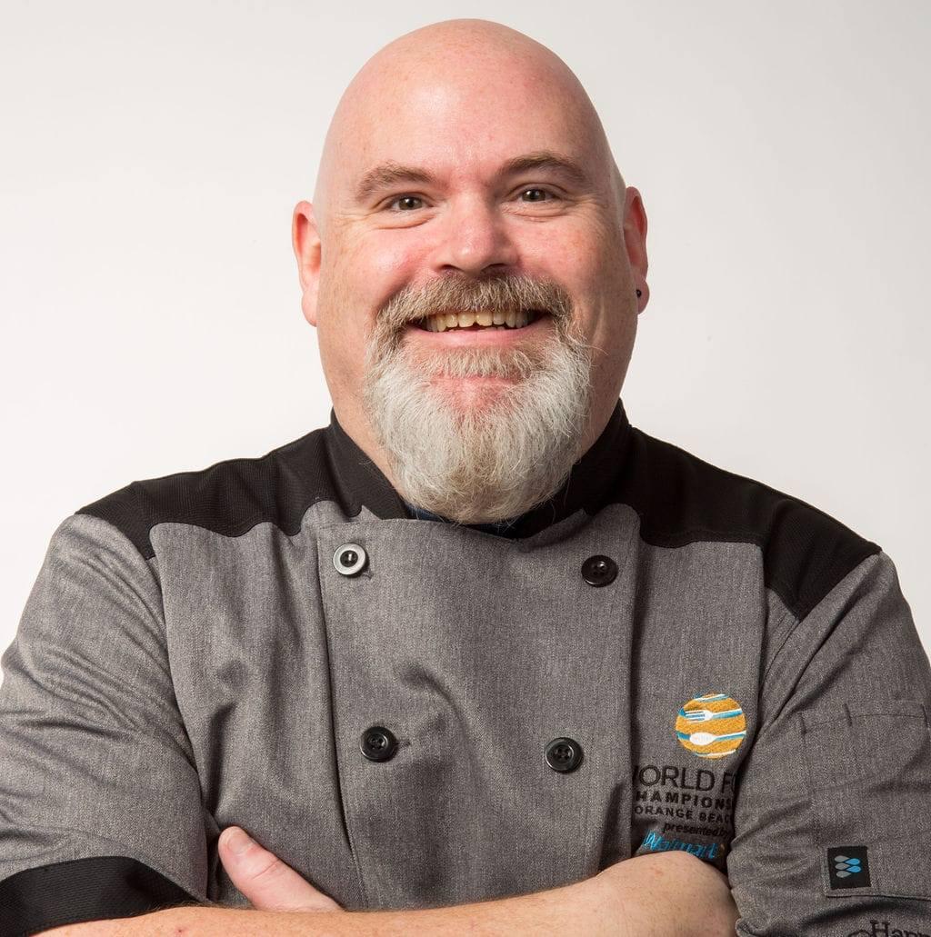 A photograph of Chef Stuart Reb Donald.